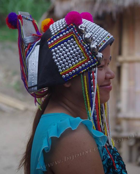 Coiffe tribu Karen - Thailande